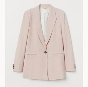 H&M Pink Striped Blazer